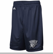 Oklahoma City Thunder adidas One Color Logo Shorts - Navy