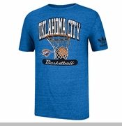Oklahoma City Thunder adidas Originals Bank Shot Triblend Tee - Blue