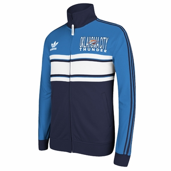 Oklahoma City Thunder adidas Originals Court Series Track Jacket - Blue/Navy - Click to enlarge