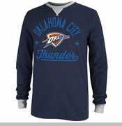 Oklahoma City Thunder adidas Originals Long Sleeve Crew Tee - Navy