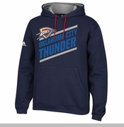 Oklahoma City Thunder adidas Playbook Hoodie - Navy