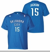 Oklahoma City Thunder adidas Reggie Jackson Name & Number Tee - Blue