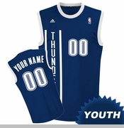 Oklahoma City Thunder adidas Revolution Youth Custom Player Replica Alternate Jersey - Navy<br><b><i>Choose a player or Personalize your jersey!</i></b>