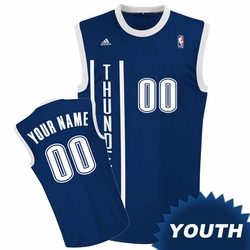 Oklahoma City Thunder adidas Youth Custom Player Replica Alternate Jersey - Navy<br><b><i>Choose a player or Personalize your jersey!</i></b> - Click to enlarge