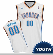 Oklahoma City Thunder adidas Revolution Youth Custom Player Replica Home Jersey - White<br><b><i>Choose a player or Personalize your jersey!</i></b>