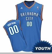 Oklahoma City Thunder adidas Youth Custom Player Replica Road Jersey - Blue<br><b><i>Choose a player or Personalize your jersey!</i></b>