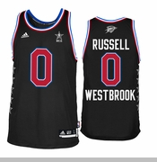 Oklahoma City Thunder adidas Russell Westbrook #0 2015 All-Star Swingman Jersey - Black