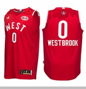 Oklahoma City Thunder adidas Russell Westbrook 2016 NBA West All-Star Swingman Jersey - Red