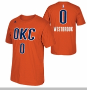 Oklahoma City Thunder adidas Russell Westbrook Name & Number Alternate Tee - Sunset