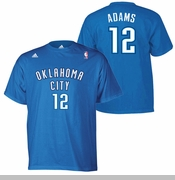 Oklahoma City Thunder adidas Steven Adams Name & Number Tee - Blue