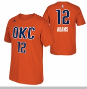 Oklahoma City Thunder adidas Steven Adams Name & Number Alternate Tee - Sunset