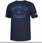 Oklahoma City Thunder adidas Street Sweeper Tee - Navy