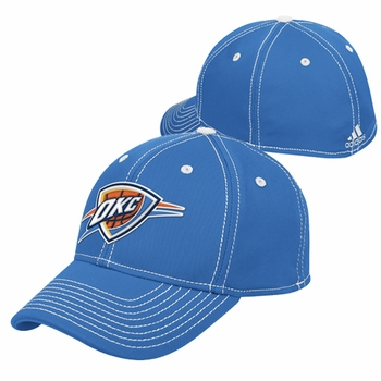 Oklahoma City Thunder adidas Structured Tactel Flex Cap - Blue - Click to enlarge