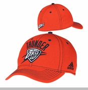 Oklahoma City Thunder adidas Team Color Structured Hat - Orange