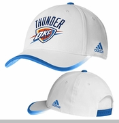 Oklahoma City Thunder adidas Team Color Trim Structured Cap - White