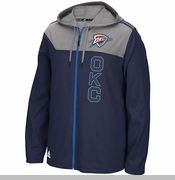 Oklahoma City Thunder adidas Tip-Off Full Zip Hoodie - Navy