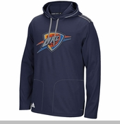 Oklahoma City Thunder adidas Tip-Off Pullover Hoodie - Navy