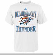 Oklahoma City Thunder adidas Toddler Home Turn Tee - White