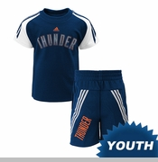 Oklahoma City Thunder adidas Toddler Slam Dunk Short Sleeve Tee Set - Navy