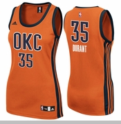 Oklahoma City Thunder adidas Women's Kevin Durant Replica Alternate Jersey - Sunset