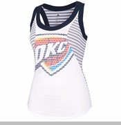 Oklahoma City Thunder adidas Women's Racer Stripe Tank - White