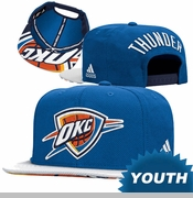 Oklahoma City Thunder adidas Youth 2015 NBA Draft Cap - Blue