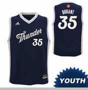 Oklahoma City Thunder adidas Youth Christmas Day Kevin Durant Replica Jersey - Blue