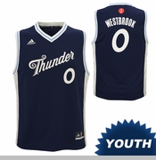 Oklahoma City Thunder adidas Youth Christmas Day Russell Westbrook Replica Jersey - Blue