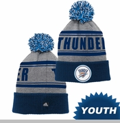 Oklahoma City Thunder adidas Youth Cuffed Knit Cap - Blue