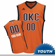 Oklahoma City Thunder adidas Youth Custom Player Replica Alternate Jersey - Sunset <br><b><i>Choose a player or Personalize your jersey!</i></b>
