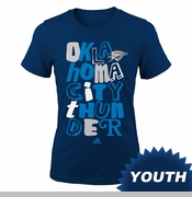 Oklahoma City Thunder adidas Youth Girls Marquise Tee - Navy