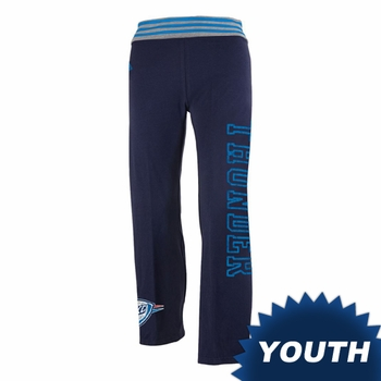 Oklahoma City Thunder adidas Youth Girls Triblend Yoga Roll Pants - Navy - Click to enlarge