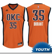 Oklahoma City Thunder adidas Youth Kevin Durant Replica Alternate Jersey - Sunset