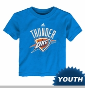 Oklahoma City Thunder adidas Youth Mesh Primary Logo Tee - Blue