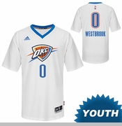Oklahoma City Thunder adidas Youth OKC Pride Russell Westbrook #0 Swingman Jersey - White
