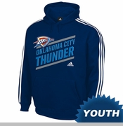 Oklahoma City Thunder adidas Youth Playbook Striped Hoodie - Navy