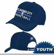 Oklahoma City Thunder adidas Youth Practice Graphic Adjustable Cap - Navy