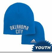 Oklahoma City Thunder adidas Youth Reversible Draft Knit Cap - Blue