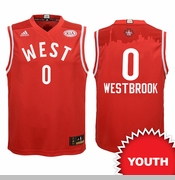Oklahoma City Thunder adidas Youth Russell Westbrook 2016 NBA West All-Star Replica Jersey - Red