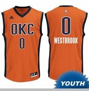 Oklahoma City Thunder adidas Youth Russell Westbrook Replica Alternate Jersey - Sunset