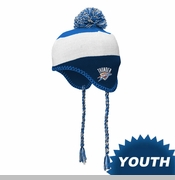 Oklahoma City Thunder adidas Youth Tassel Knit Cap - Blue