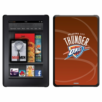 Oklahoma City Thunder Amazon Kindle Fire Thinshield Case with Basketball Design - Click to enlarge