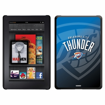Oklahoma City Thunder Amazon Kindle Fire Thinshield Case with Oklahoma City Watermark Design - Click to enlarge