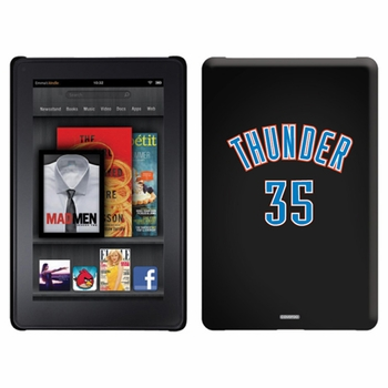 Oklahoma City Thunder Amazon Kindle Fire Thinshield Case with Thunder 35 Jersey Design - Click to enlarge