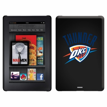 Oklahoma City Thunder Amazon Kindle Fire Thinshield Case with Thunder OKC Design - Click to enlarge