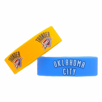 Oklahoma City Thunder Aminco 2-pack Rubber Bracelets - Click to enlarge