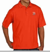 Oklahoma City Thunder Antigua Pique Xtra-Lite Polo - Sunset