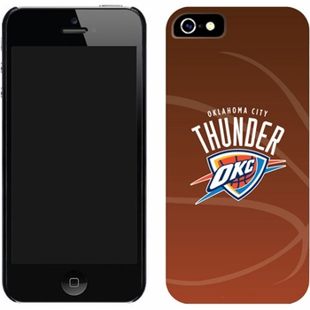 Oklahoma City Thunder Basketball Design on iPhone 5 Thinshield Snap-On Case by Coveroo - Click to enlarge