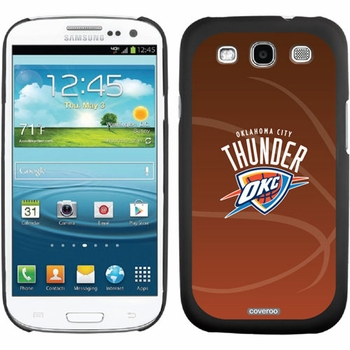 Oklahoma City Thunder - Basketball design on Samsung Galaxy S3 Thinshield Case by Coveroo - Click to enlarge
