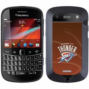 Oklahoma City Thunder Blackberry Bold 9900/9930 Hard Case with Basketball Design - Click to enlarge